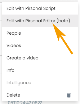 Editing Pirsonal Editor Personalized Video Template