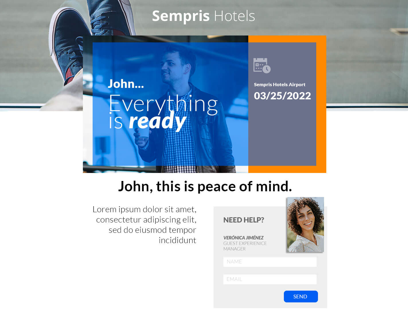 Pirsonal Pages Example: Dynamic Landing Page